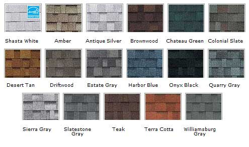 Owens Corning Color Samples